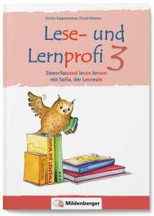 Christa Koppensteiner: Lese- und Lernprofi 3 NEU - Schülerarbeitsheft - silbierte Ausgabe, Buch