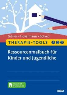 Melanie Gräßer: Therapie-Tools Ressourcenmalbuch für Kinder und Jugendliche, 1 Buch und 1 Diverse