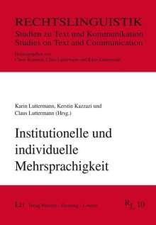 Institutionelle und individuelle Mehrsprachigkeit, Buch