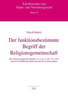 Talayeh Bagheri: Der funktionsbestimmte Begriff der Religionsgemeinschaft, Buch