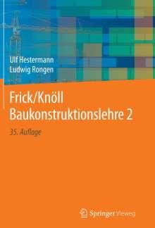 Ulf Hestermann: Frick/Knöll Baukonstruktionslehre 2, Buch