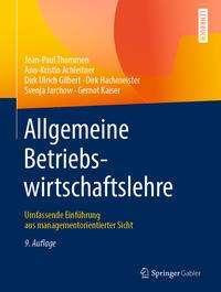 Jean-Paul Thommen: Allgemeine Betriebswirtschaftslehre, Buch