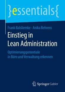 Frank Balsliemke: Einstieg in Lean Administration, Buch