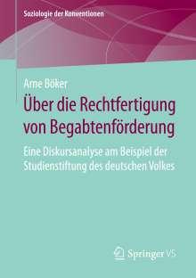 Arne Böker: Über die Rechtfertigung von Begabtenförderung, Buch