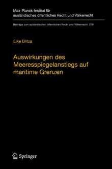 Eike Blitza: Auswirkungen des Meeresspiegelanstiegs auf maritime Grenzen, Buch