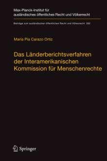 María Pía Carazo Ortiz: Das Länderberichtsverfahren der Interamerikanischen Kommission für Menschenrechte, Buch
