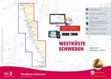Sportbootkarten Satz 3: Westküste Schweden (Ausgabe 2020/2021), Diverse
