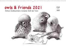 Stefan Kahlhammer: owls & friends 2021 (Wandkalender 2021 DIN A3 quer), Kalender