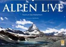 Olaf Bruhn: Alpen live - Rund um das Matterhorn (Wandkalender 2021 DIN A2 quer), Kalender