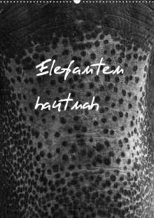 Antje Hopfmann: Elefanten hautnah (Wandkalender 2021 DIN A2 hoch), Kalender