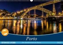 Martina Schikore: Porto - Die Handelsstadt am Douro (Wandkalender 2021 DIN A3 quer), Kalender