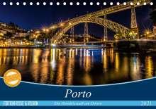 Martina Schikore: Porto - Die Handelsstadt am Douro (Tischkalender 2021 DIN A5 quer), Kalender