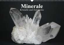 Elisabeth Stanzer: Minerale. Kristalle und Edelsteine (Wandkalender 2021 DIN A3 quer), Kalender