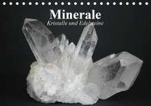 Elisabeth Stanzer: Minerale. Kristalle und Edelsteine (Tischkalender 2021 DIN A5 quer), Kalender