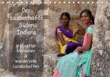 Thomas Münter: Der zauberhafte Süden Indiens (Tischkalender 2021 DIN A5 quer), Kalender