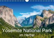 Michael Schepp: Yosemite National Park im Herbst (Wandkalender 2021 DIN A4 quer), Kalender