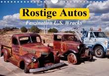 Elisabeth Stanzer: Rostige Autos. Faszination U.S. Wracks (Wandkalender 2021 DIN A4 quer), Kalender