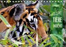 Manfred Bergermann: Wilde Tiere Indiens (Tischkalender 2021 DIN A5 quer), Kalender