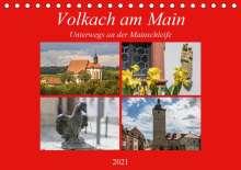 Hans Will: Volkach am Main (Tischkalender 2021 DIN A5 quer), Kalender