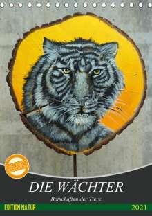 Uschi Felix: Die Wächter - Botschaften der Tiere (Tischkalender 2021 DIN A5 hoch), Kalender