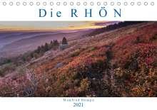 Manfred Hempe: Die Rhön (Tischkalender 2021 DIN A5 quer), Kalender