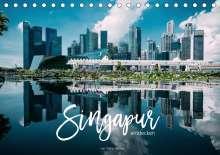 Stefan Becker: Singapur entdecken (Tischkalender 2021 DIN A5 quer), Kalender