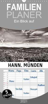 Markus W. Lambrecht: Ein Blick auf Hann. Münden - Familienplaner hoch (Wandkalender 2021 , 21 cm x 45 cm, hoch), Kalender