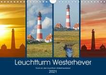Olaf Schulz: Rund um den Leuchtturm Westerheversand (Wandkalender 2021 DIN A4 quer), Kalender