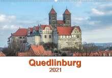 Steffen Gierok: Fachwerkstadt Qudlinburg (Wandkalender 2021 DIN A2 quer), Kalender
