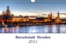 Steffen Gierok: Barockstadt  Dresden (Wandkalender 2021 DIN A4 quer), Kalender