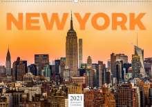 Benjamin Lederer: New York - Eine Weltstadt (Wandkalender 2021 DIN A2 quer), Kalender