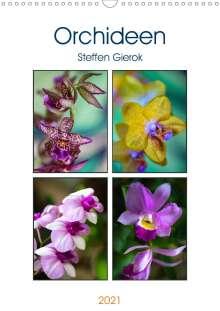 Steffen Gierok: Orchideen (Wandkalender 2021 DIN A3 hoch), Kalender