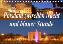 Bernhard Wolfgang Schneider: Potsdam zwischen Nacht und blauer Stunde (Tischkalender 2021 DIN A5 quer), Kalender