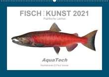 Paul Vecsei: Fisch als Kunst 2021: Pazifische Lachse (Wandkalender 2021 DIN A2 quer), Kalender