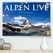 Olaf Bruhn: Alpen live - Rund um das Matterhorn (Premium, hochwertiger DIN A2 Wandkalender 2021, Kunstdruck in Hochglanz), Kalender