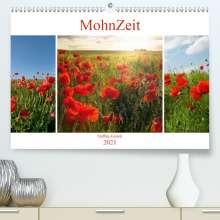 Steffen Gierok: MohnZeit (Premium, hochwertiger DIN A2 Wandkalender 2021, Kunstdruck in Hochglanz), Kalender