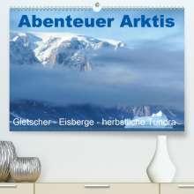 Brigitte Dürr: Abenteuer Arktis - Gletscher-Eisberge-herbstliche Tundra (Premium, hochwertiger DIN A2 Wandkalender 2021, Kunstdruck in Hochglanz), Kalender