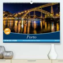 Martina Schikore: Porto - Die Handelsstadt am Douro (Premium, hochwertiger DIN A2 Wandkalender 2021, Kunstdruck in Hochglanz), Kalender