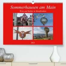 Hans Will: Sommerhausen am Main (Premium, hochwertiger DIN A2 Wandkalender 2021, Kunstdruck in Hochglanz), Kalender