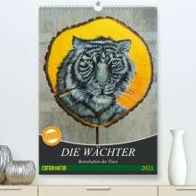 Uschi Felix: Die Wächter - Botschaften der Tiere (Premium, hochwertiger DIN A2 Wandkalender 2021, Kunstdruck in Hochglanz), Kalender