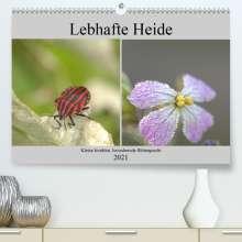 Kevin Andreas Lederle: Lebhafte Heide - Kleine Insekten, bezaubernde Blütenpracht (Premium, hochwertiger DIN A2 Wandkalender 2021, Kunstdruck in Hochglanz), Kalender