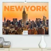 Benjamin Lederer: New York - Eine Weltstadt (Premium, hochwertiger DIN A2 Wandkalender 2021, Kunstdruck in Hochglanz), Kalender