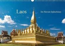 Harry Müller: Laos - Im Herzen Indochinas (Wandkalender 2021 DIN A3 quer), Kalender