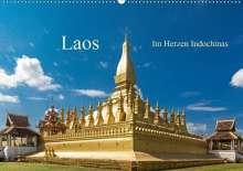 Harry Müller: Laos - Im Herzen Indochinas (Wandkalender 2021 DIN A2 quer), Kalender