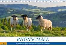 Manfred Hempe: Rhönschafe - Symphatieträger des Biosphärenreservats Rhön (Tischkalender 2021 DIN A5 quer), Kalender