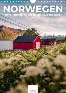 Benjamin Lederer: Norwegen - Eine Reise durch das skandinavische Land. (Wandkalender 2021 DIN A4 hoch), Kalender