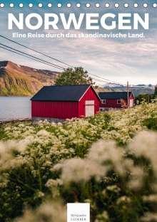 Benjamin Lederer: Norwegen - Eine Reise durch das skandinavische Land. (Tischkalender 2021 DIN A5 hoch), Kalender