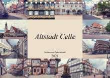 Steffen Gierok: Altstadt Celle (Tischkalender 2021 DIN A5 quer), Kalender