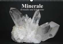 Elisabeth Stanzer: Minerale. Kristalle und Edelsteine (Wandkalender 2022 DIN A3 quer), Kalender