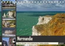 Silke Liedtke Reisefotografie: Normandie - Raue Küste und malerische Hafenstädte (Tischkalender 2022 DIN A5 quer), Kalender